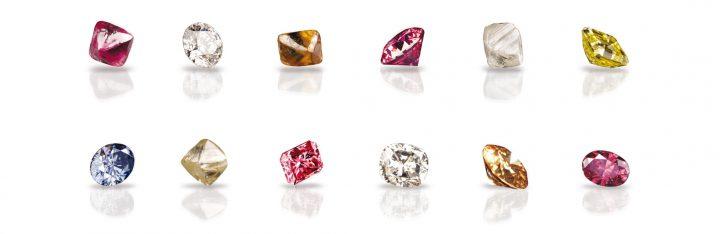 Coloured Diamonds from the Argyle Diamond Mine