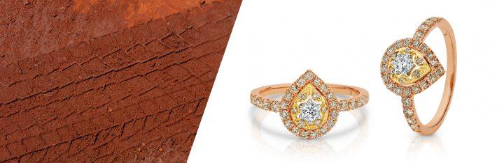 Dreamtime Diamonds Pear Shaped Diamond Ring